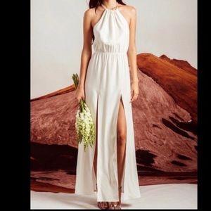Stone Cold Fox   White Silk Onyx Gown